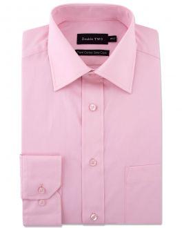 Pink 100% Cotton Poplin Shirt