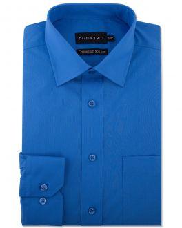 Cobalt Blue Long Sleeve Non-Iron Shirt