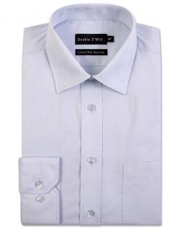 Ice Grey Long Sleeve Non-Iron Shirt