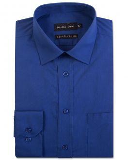 French Navy Long Sleeve Non-Iron Shirt