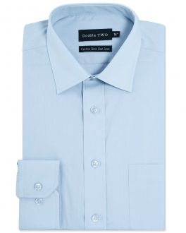 New Blue Long Sleeve Non-Iron Shirt