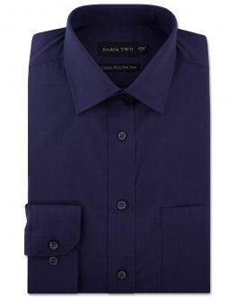 Navy Long Sleeve Non-Iron Shirt