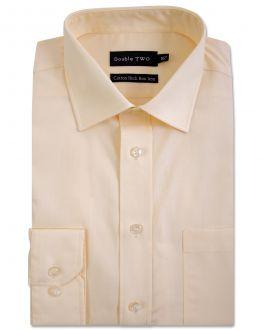 Lemon Yellow Long Sleeve Non-Iron Shirt