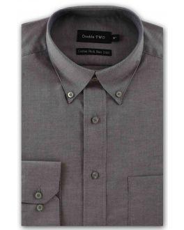 Silver Non-Iron Button Down Oxford Shirt