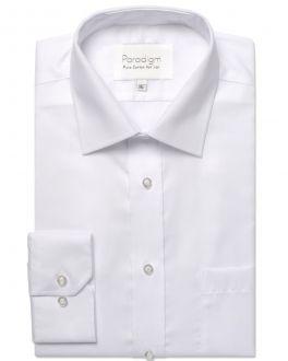 White Luxury Pure Cotton Non Iron Shirt