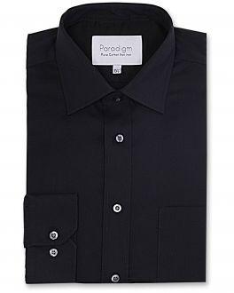 Black Single Cuff Pure Cotton Non Iron Shirt