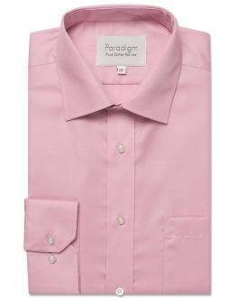 Pale Pink Luxury Pure Cotton Non Iron Shirt
