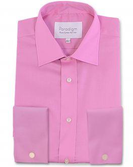 Pink Double Cuff Luxury Pure Cotton Non Iron Shirt