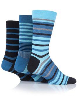 Sockshop Blue Stripe 3 Pack Gentle Bamboo Socks