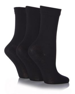 Sockshop Black 3 Pack Gentle Bamboo Socks