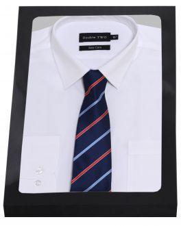White Formal Shirt Set