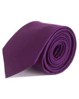 Purple Herringbone Bamboo Tie