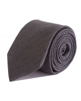 Black and White Check Bamboo Tie