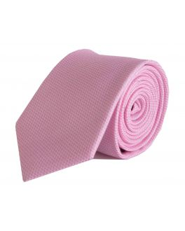 Pink and White Check Bamboo Tie