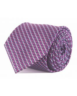 Double TWO Pink Patterned Tie
