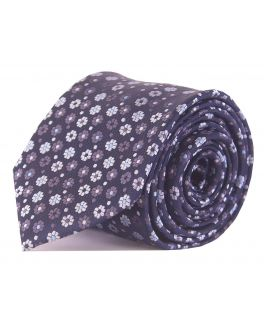 Double TWO Navy Floral Tie