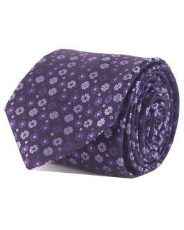 Double TWO Purple Floral Tie