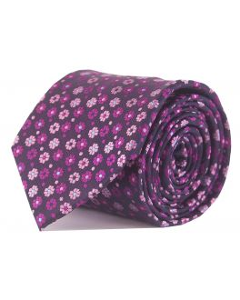 Double TWO Pink Floral Tie