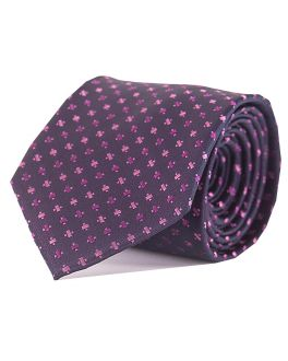 Double TWO Red Cross Patterned Tie