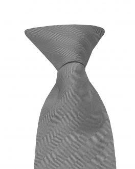 Grey Clip On Tie