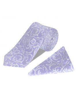Purple Tie and Handkerchief Set