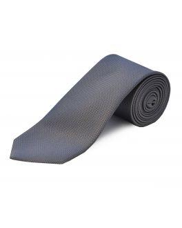Grey Extra Long Silk Tie
