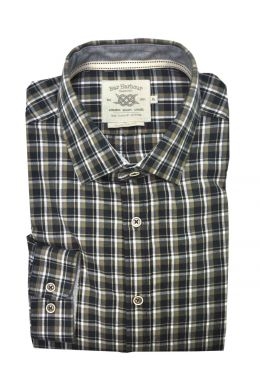 Ink Multi Check Casual Shirt