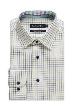 Blue Tattersall Check Warm Handle Shirt