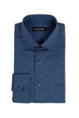 Indigo End On End Blue Formal Shirt
