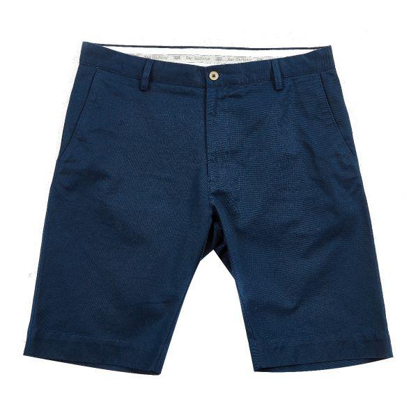 Navy Cotton Chino Shorts
