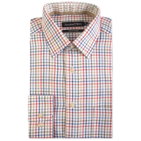 Rust Twill Check Warm Handle Formal Shirt