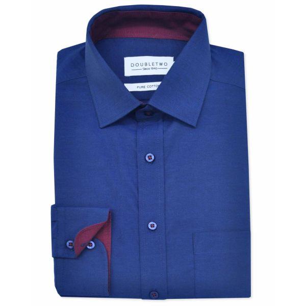 Navy Blue Long Sleeve Formal Shirt