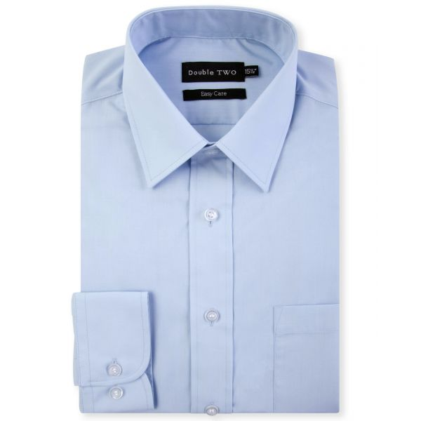 Glacier Blue Classic Easy Care Long Sleeve Shirt