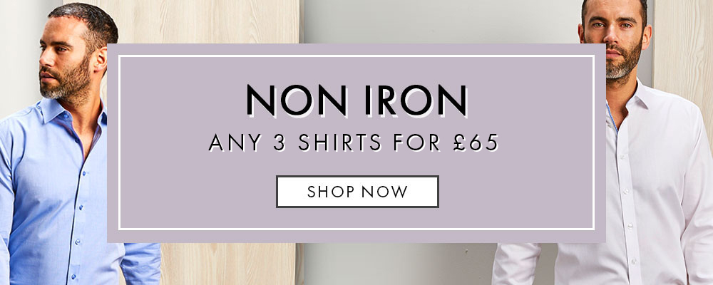 3 Non Iron Shirts For £60 Offer