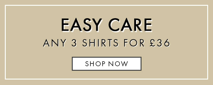 3 Easy Care Shirts For £36 Offer